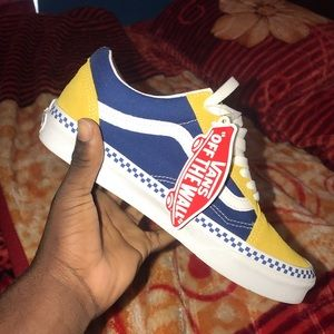 Vans yellow and blue